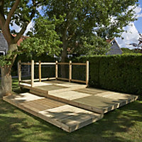 Metsä Wood Deck² Easy build Spruce Modular deck system, 8.64m²