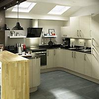 IT Kitchens Santini Gloss Grey Slab Base end panel (H)720mm (W)570mm