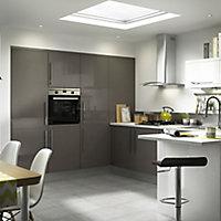 IT Kitchens Gloss Anthracite Base corner post, (W)52mm (H)715mm