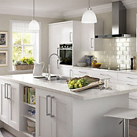 IT Kitchens White Classic Style Gloss White Cornice, (L)2400mm