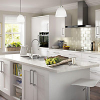IT Kitchens Stonefield White Classic Style Standard Cabinet door (W)600mm