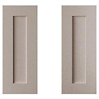 Cooke & Lewis Carisbrooke Taupe Base corner Cabinet door (W)925mm, Set of 2