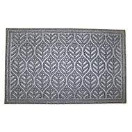 Colours Leaf Grey Jute & polyester Door mat (L)0.9m (W)0.6m