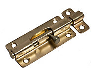 Blooma Brass effect Steel Barrel Door bolt (L)102mm