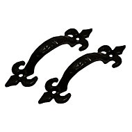 Blooma Antique effect Gate pull handle (L)102mm, Pack of 2