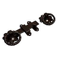 Blooma Brown Steel Ring gate latch, (L)152mm