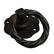 Blooma Black Antique effect Gate pull handle (L)102mm, Pack of 1