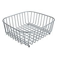Cooke & Lewis Metal Silver effect Storage basket