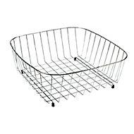 Cooke & Lewis Metal Stainless steel effect Storage basket