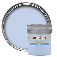 Colours Standard China blue Matt Emulsion paint 0.05L Tester pot