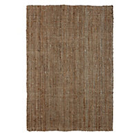 Colours Lollie Brown Rug (L)1.7m (W)1.2m