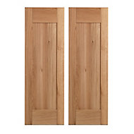 Cooke & Lewis Chesterton Solid Oak Tall corner wall door (W)625mm, Set of 2