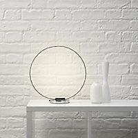 Colours Ringo Chrome effect LED Table lamp