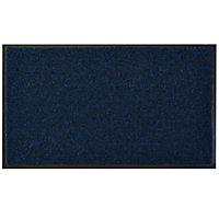 Colours Dark blue Door mat (L)0.75m (W)0.45m