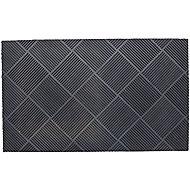 Grey Rubber Door mat (L)0.45m (W)0.75m