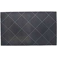 Grey Rubber Door mat (L)0.45m (W)0.75m