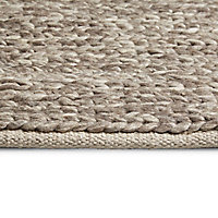 Colours Claudine Thick knit Grey Rug (L)1.7m (W)1.2m