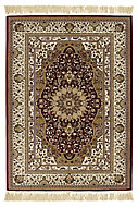 Colours Helina Persian Beige & red Rug (L)1.7m (W)1.2m