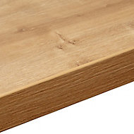 38mm Arlington Oak effect Laminate Square edge Kitchen Breakfast bar Worktop, (L)2000mm