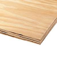 Natural Softwood Plywood Board (L)2.44m (W)1.22m (T)18mm