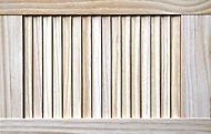 Pine LH & RH Internal Louvre Door, (H)610mm (W)381mm