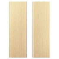 IT Kitchens Sandford Textured Oak Effect Slab Larder Cabinet door (W)600mm, Set of 2