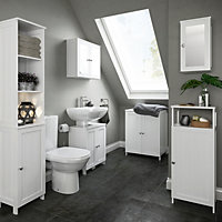 Nicolina White Storage unit