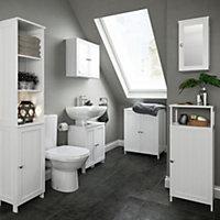 Nicolina Single door White Mirror cabinet
