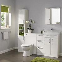 Ardenno Gloss White Vanity unit & basin set, (W)550mm