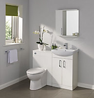 Ardenno Gloss White Toilet Cabinet (W)550mm (H)810mm