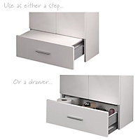 Cooke & Lewis Kiddie Step Gloss White Vanity unit & basin set