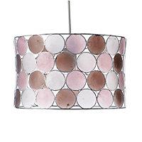 Colours Gilort Natural & pink Circles Light shade (D)290mm