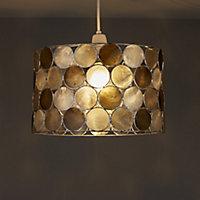 Colours Gilort Capiz grey Circles Light shade (D)290mm