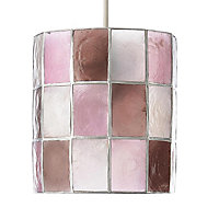 Colours Cabriole Pink Cylinder Light shade (D)160mm