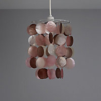 Colours Hamun Pink 2 tier Light shade (D)180mm
