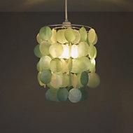 Colours Hamun Duck egg 2 tier Light shade (D)180mm