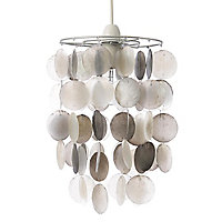 Colours Hamun Grey 2 tier Light shade (D)180mm