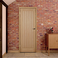 Cottage Oak veneer Internal Door, (H)1981mm (W)686mm