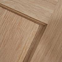 4 panel Oak veneer Internal Door, (H)1981mm (W)686mm