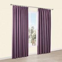 Shelley Blueberry Semi plain Lined Pencil pleat Curtains (W)228cm (L)228cm, Pair