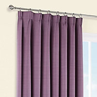 Shelley Blueberry Semi plain Lined Pencil pleat Curtains (W)228cm (L)228cm, Pair