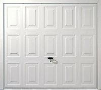 Alaska Framed White Retractable Garage door, (H)1981mm (W)2134mm