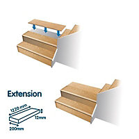 Geom Stair Klad Oak veneer 1 piece Extension board