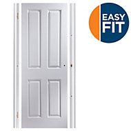 4 Panel Pre-painted White Unglazed Internal Door kit, For opening sizes (W)759-771mm (H)1988-1996mm (D)35mm