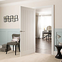 Cottage Pre-painted White Unglazed Internal Door kit, For opening sizes (W)759-771mm (H)1988-1996mm (D)35mm