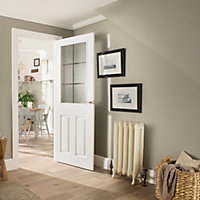 6 Panel Pre-painted White Glazed Internal Door kit, For opening sizes (W)759-771mm (H)1988-1996mm (D)35mm