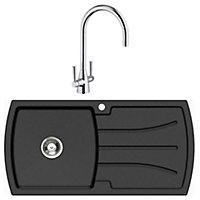 Cooke & Lewis 1 Bowl Kitchen sink & tap set