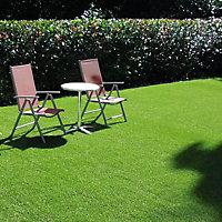 Eton Medium density Artificial grass 4m² (T)15mm