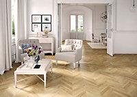 Colours Alessano Natural Herringbone oak effect Laminate flooring, 1.39m² Pack