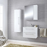 Cooke & Lewis Paolo Gloss White Furniture pack